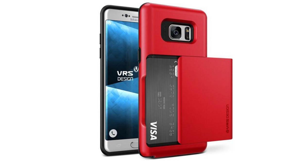 Samsung Galaxy Note 7 con carcasa de color rojo