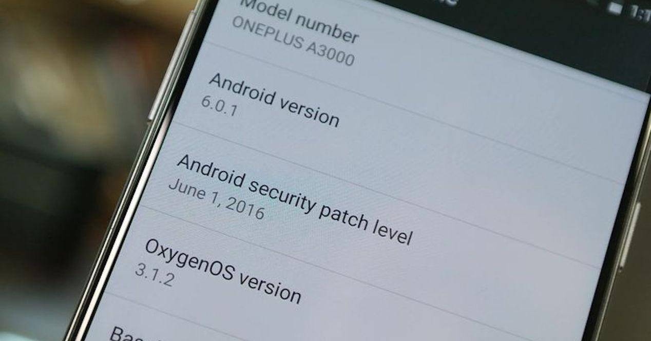información del software del OnePlus 3