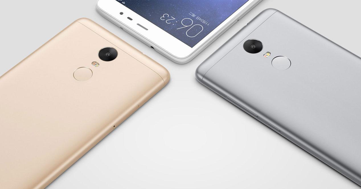 Trasera y colores del Xiaomi Redmi 3 Pro