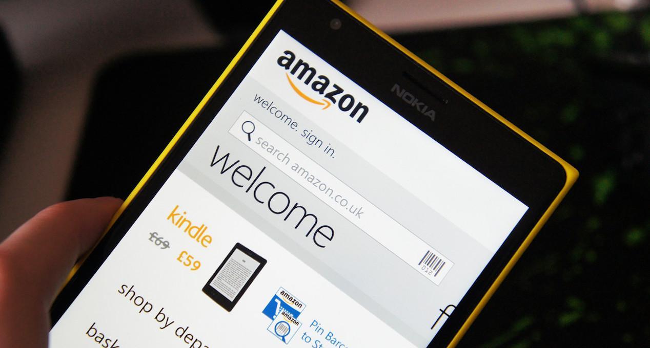 aplicación de Amazon en un smartphone Nokia