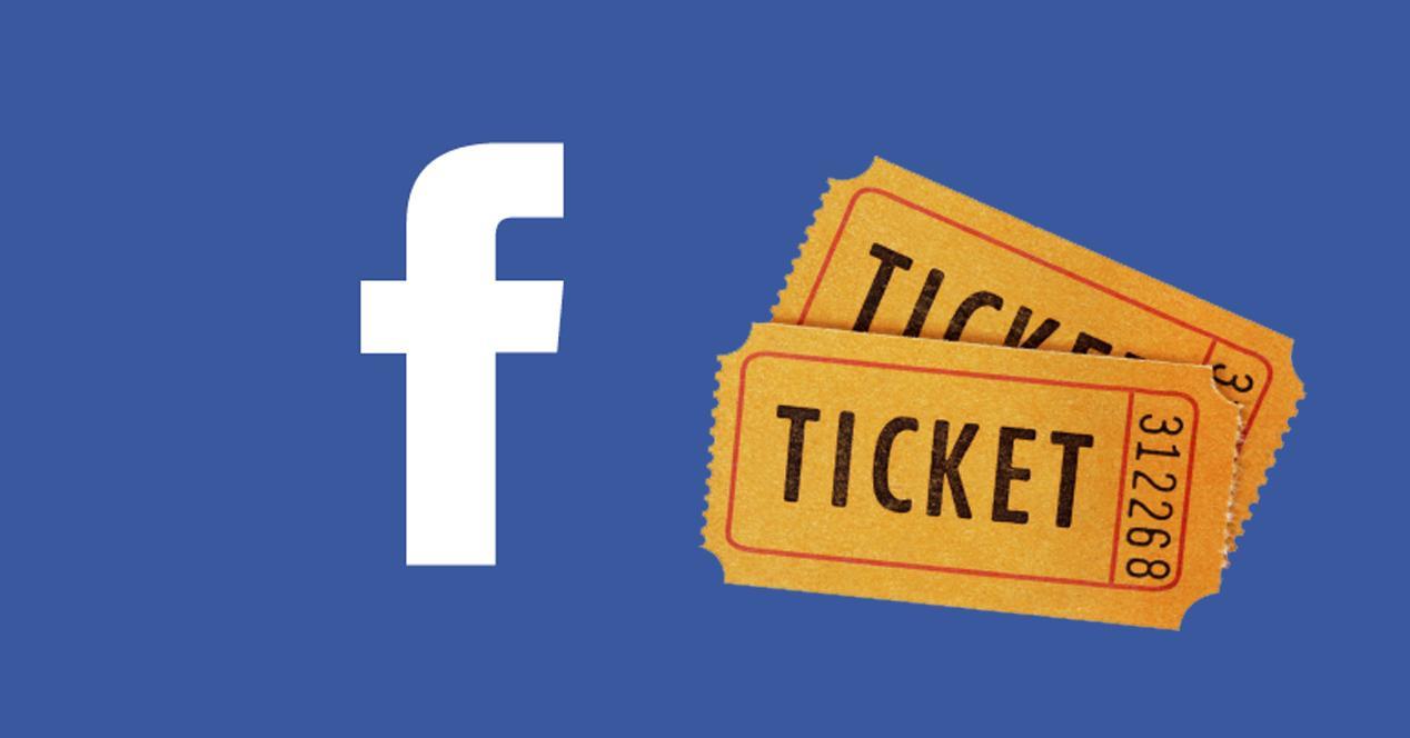Logo Facebook y entradas