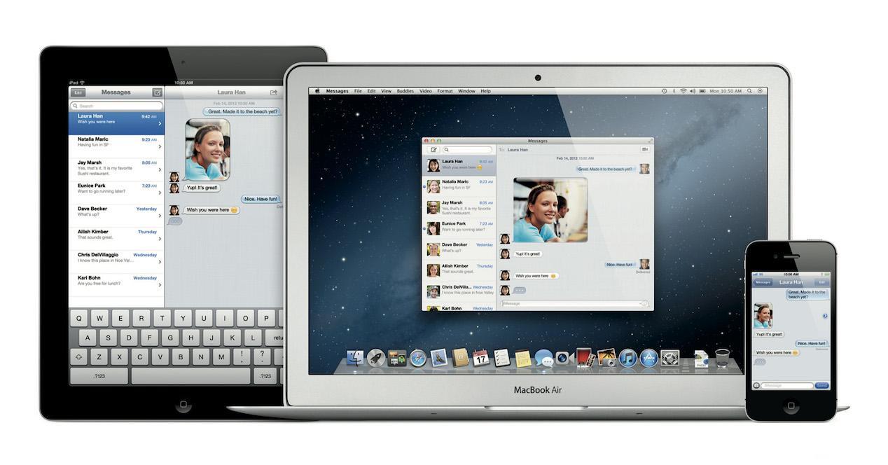 imessage en ipad, mac y iphone