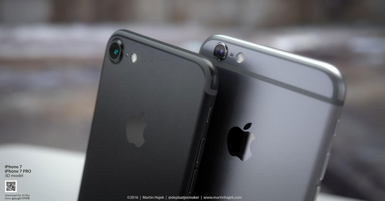 iPhone 7 black y plateado