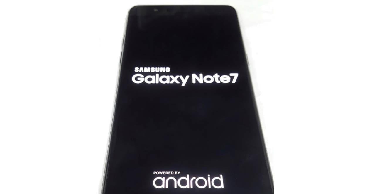 Samsung Galaxy Note 7 escaner iris