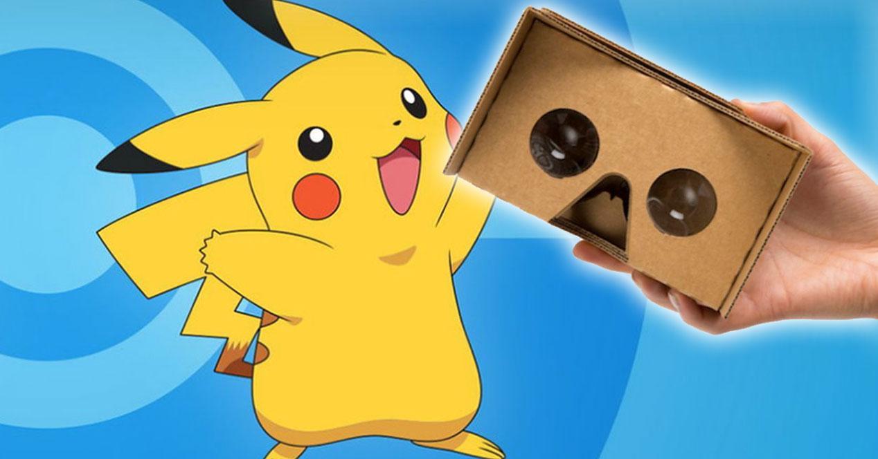 pikachu con gafas cardboard