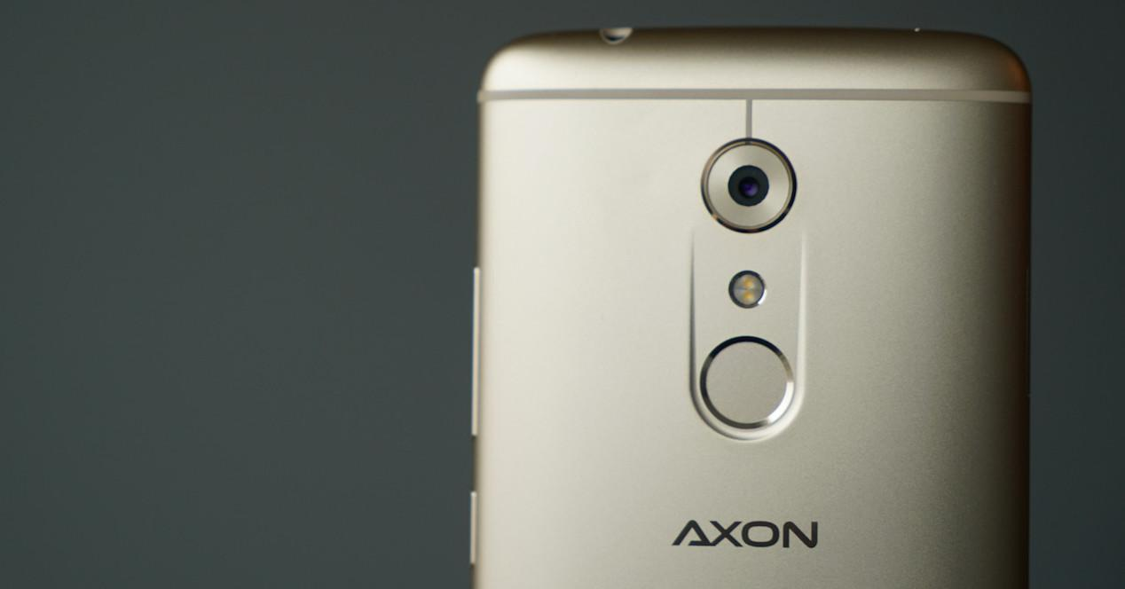 zte axon 7 cámara trasera y sensor dactilar
