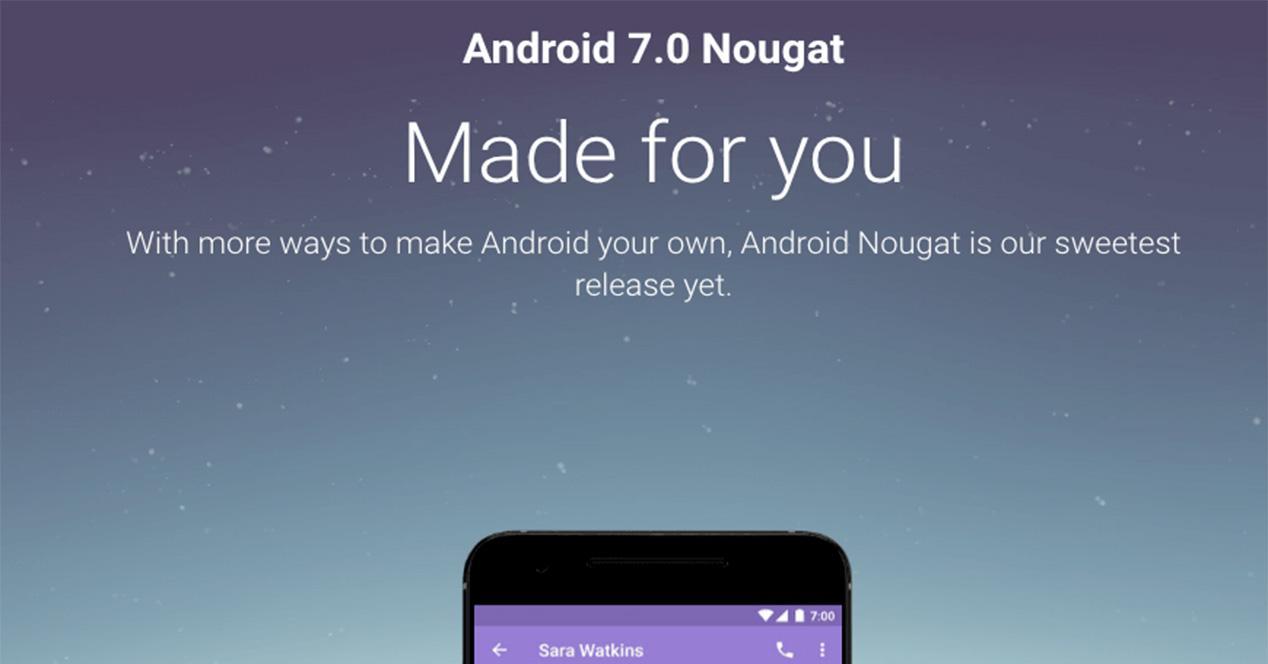 OTA de Android 7.0