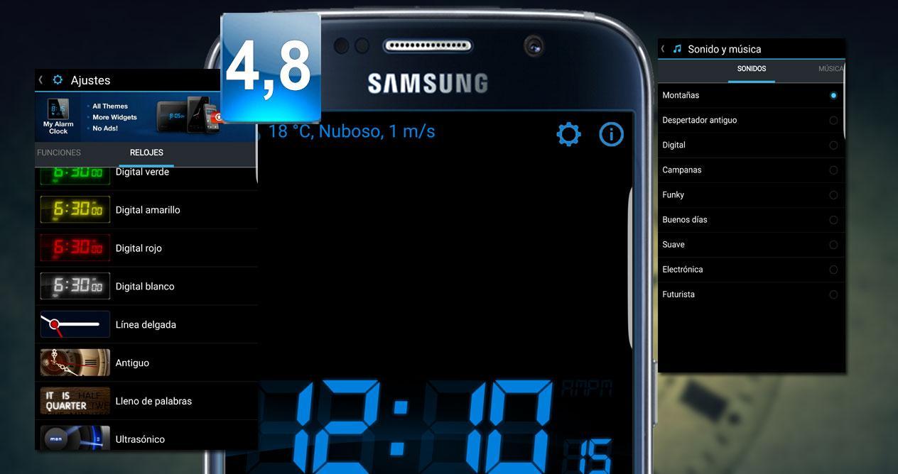 Aplicación Mi reloj despertador