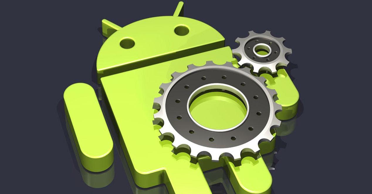 Logo de Android con engranaje