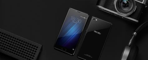 Meizu U20 negro con cámara digital