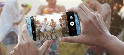 Samsung Galaxy Note 7 mojado realizando foto