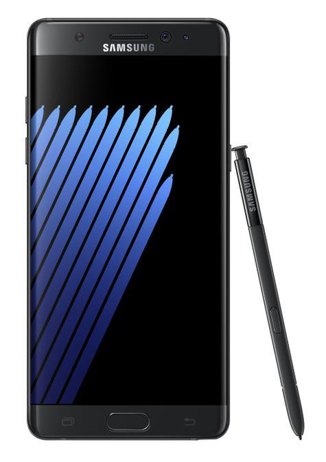 Samsung Galaxy Note 7 negro vista frontal