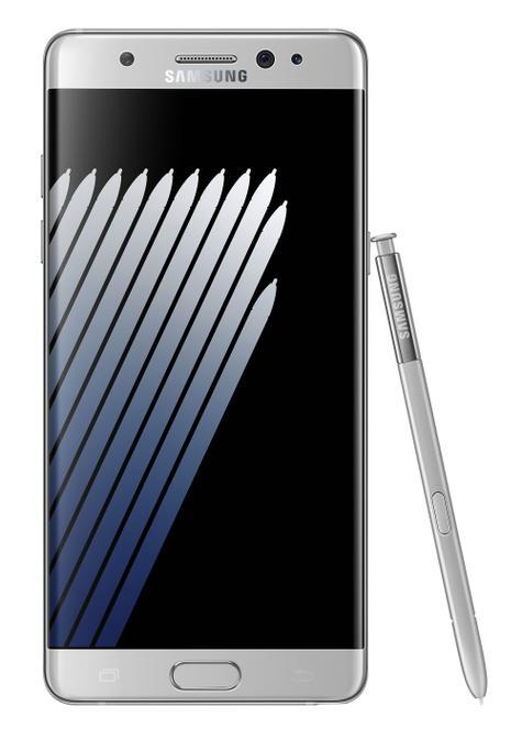 Samsung Galaxy Note 7 gris vista frontal