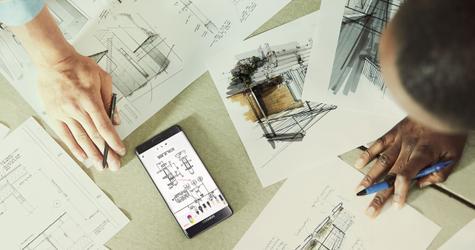 Samsung Galaxy Note 7 dibujo de esquema a mano alzada