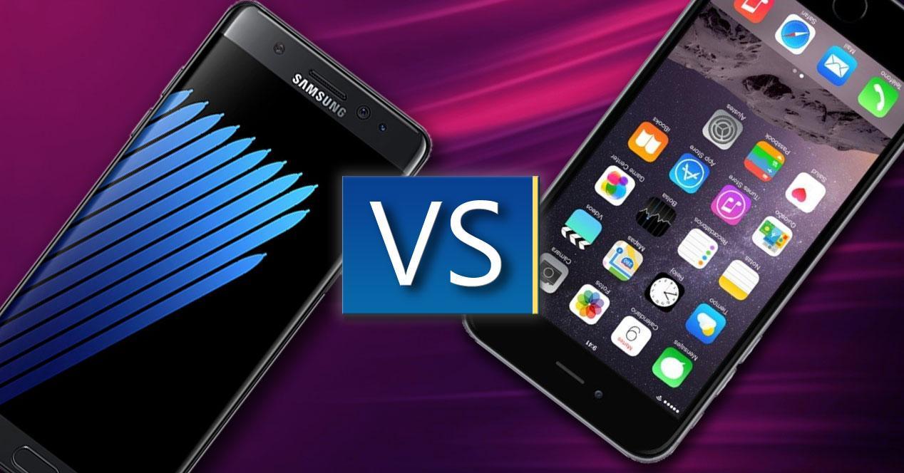 Comparativa de modelos Samsung contra Apple