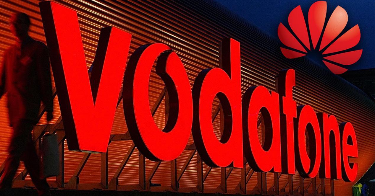 Logo de Huawei y Vodafone