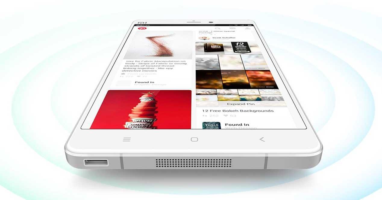 Xiaomi Mi Note tumbado