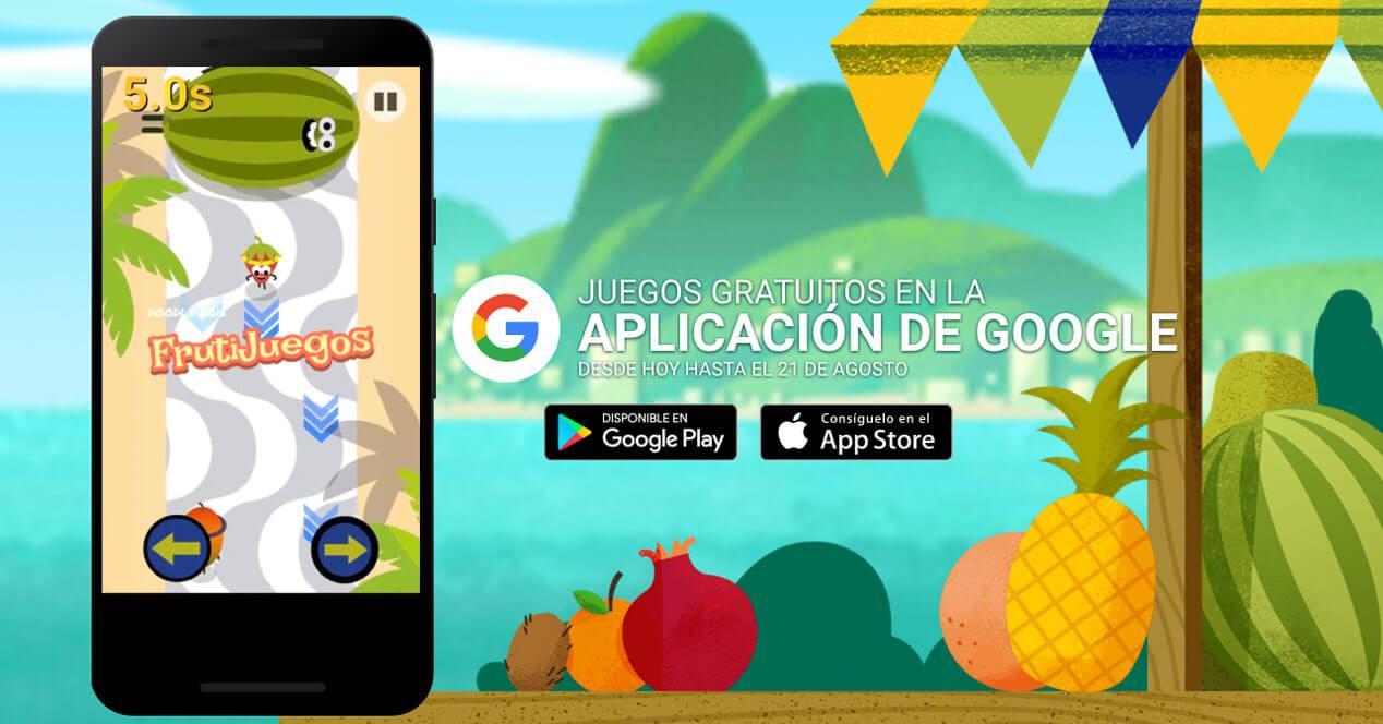 fruta olimpiadas de google