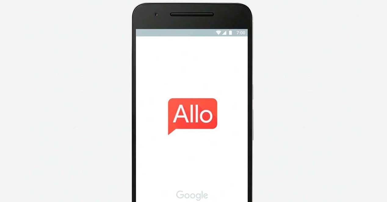 Google Allo fondo de telefono