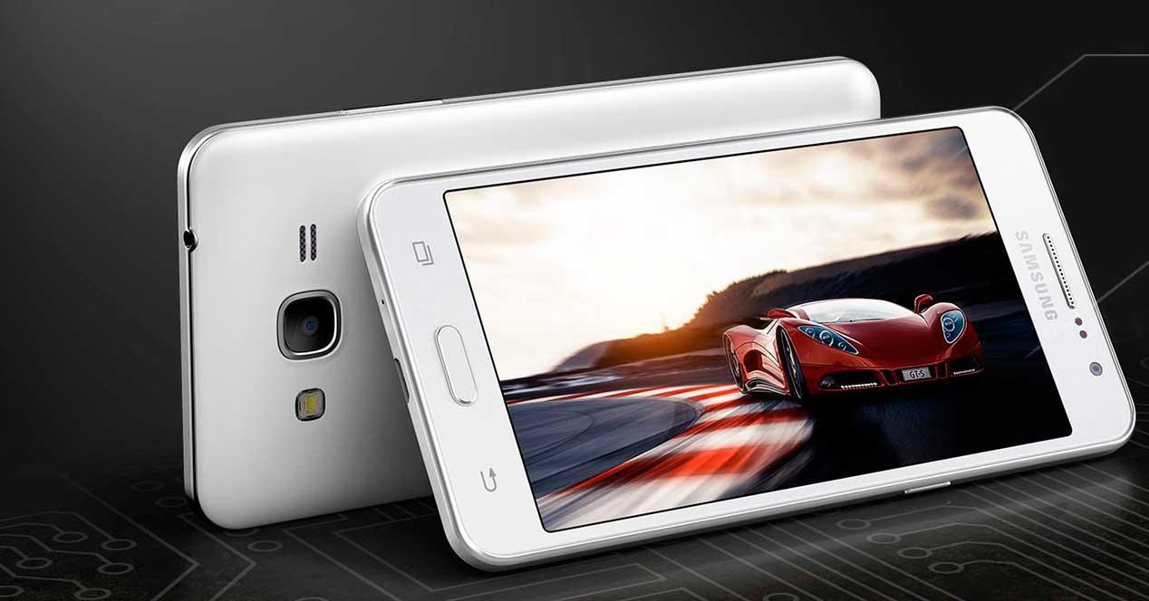 Samsung Galaxy Grande Prime de color blanco