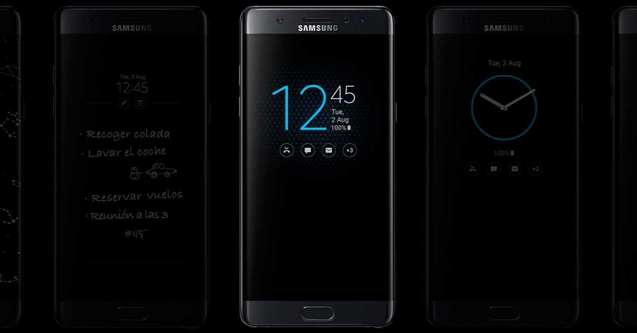 Samsung Galaxy Note 7 always on