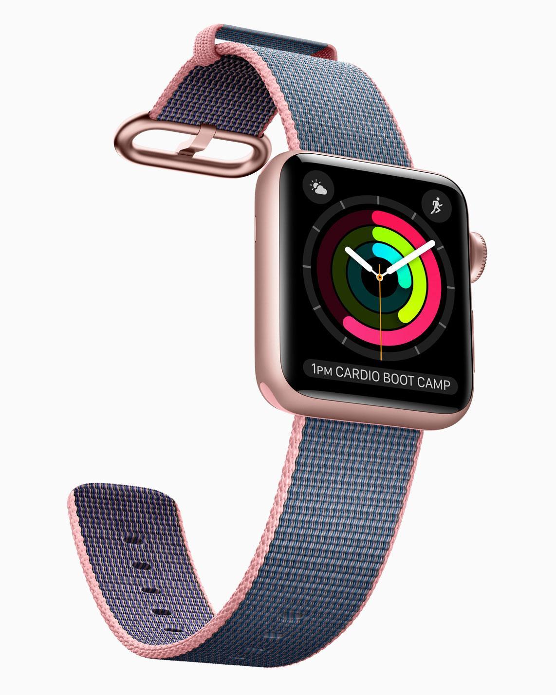 Apple Watch 2 con pantalla encendida