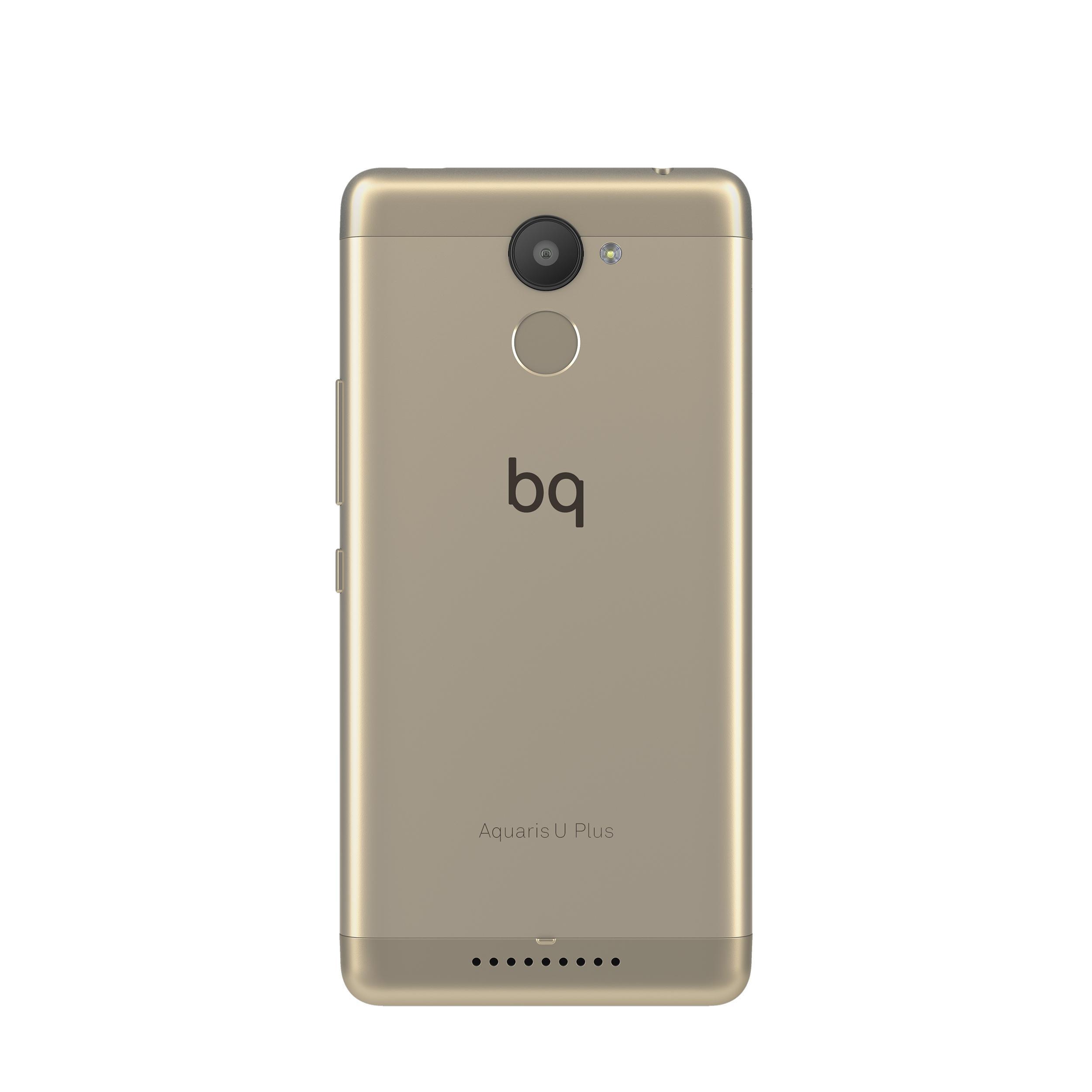 bq Aquaris U Plus cámara digital y lector de huellas
