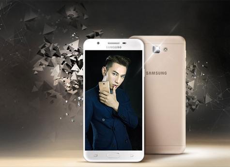 Samsung Galaxy J7 Prime en color dorado vista delantera y trasera