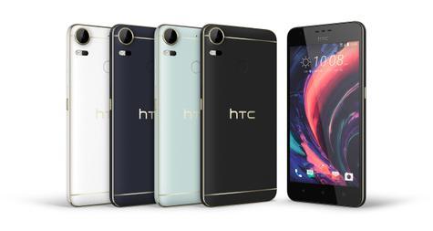 HTC Desire Pro en negro, plata y azul