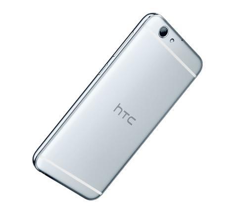 HTC One A9s plata vista trasera