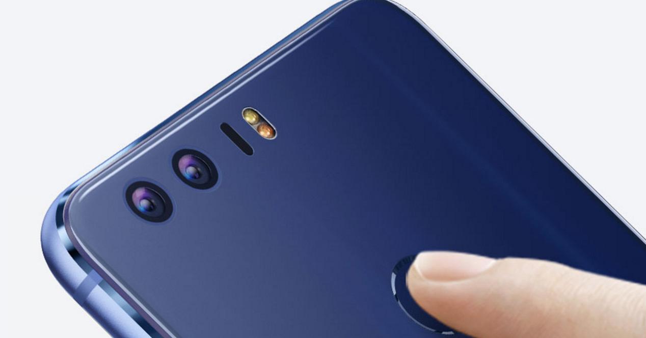 Doble cámara trasera de un smartphone Huawei Honor