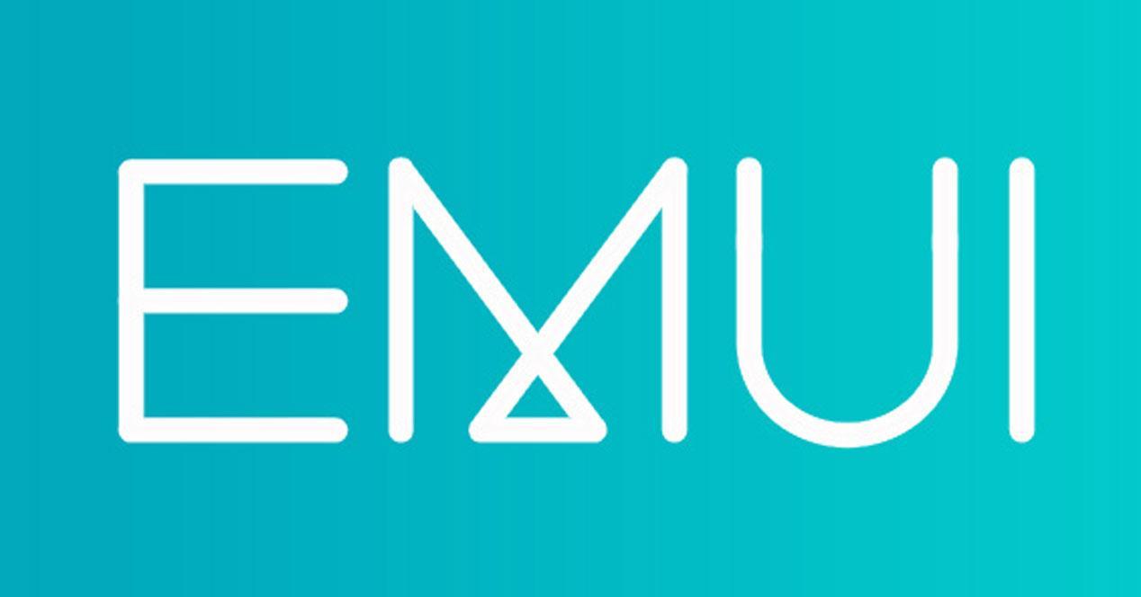 Logotipo EMUI con fondo azul
