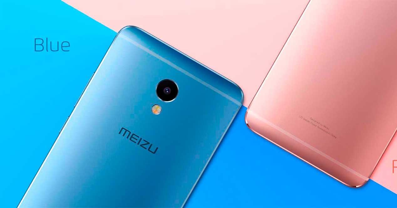 Meizu M3 azul y rosa