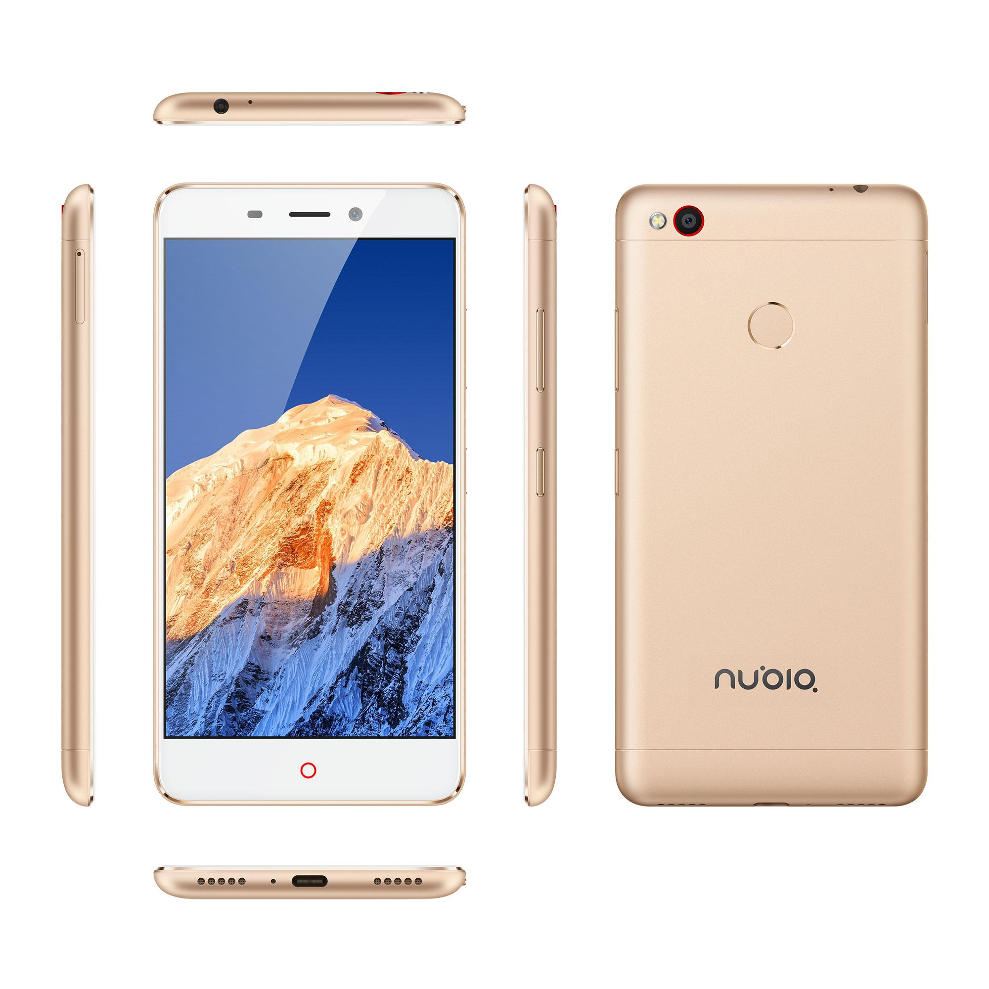 Nubia N1 frontal, trasera y lateral