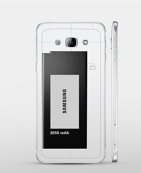 Samsung Galaxy A8 detalle de la bateria
