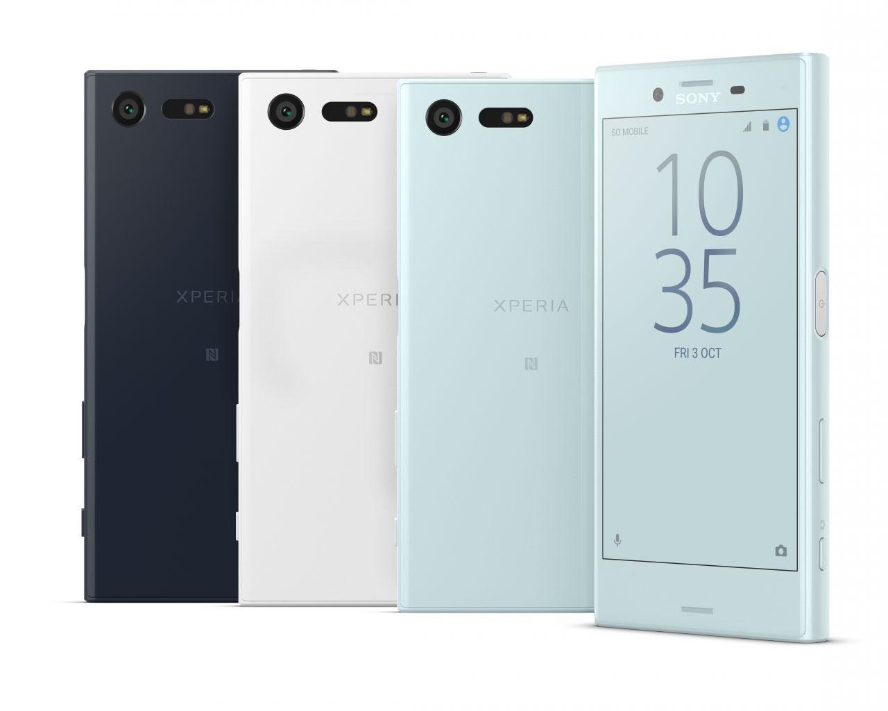 Sony Xperia Compact blanco, negro y gris claro