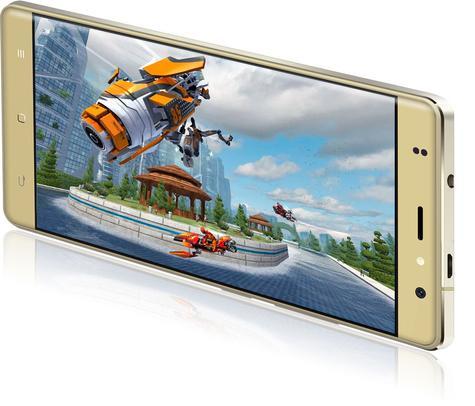 Zopo Color F1 dorado con pantalla encendida