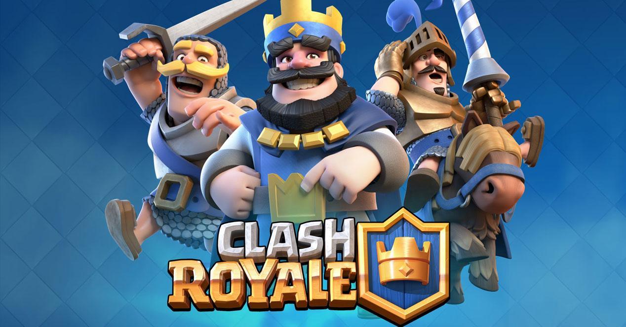 personajes y logo de clash royale