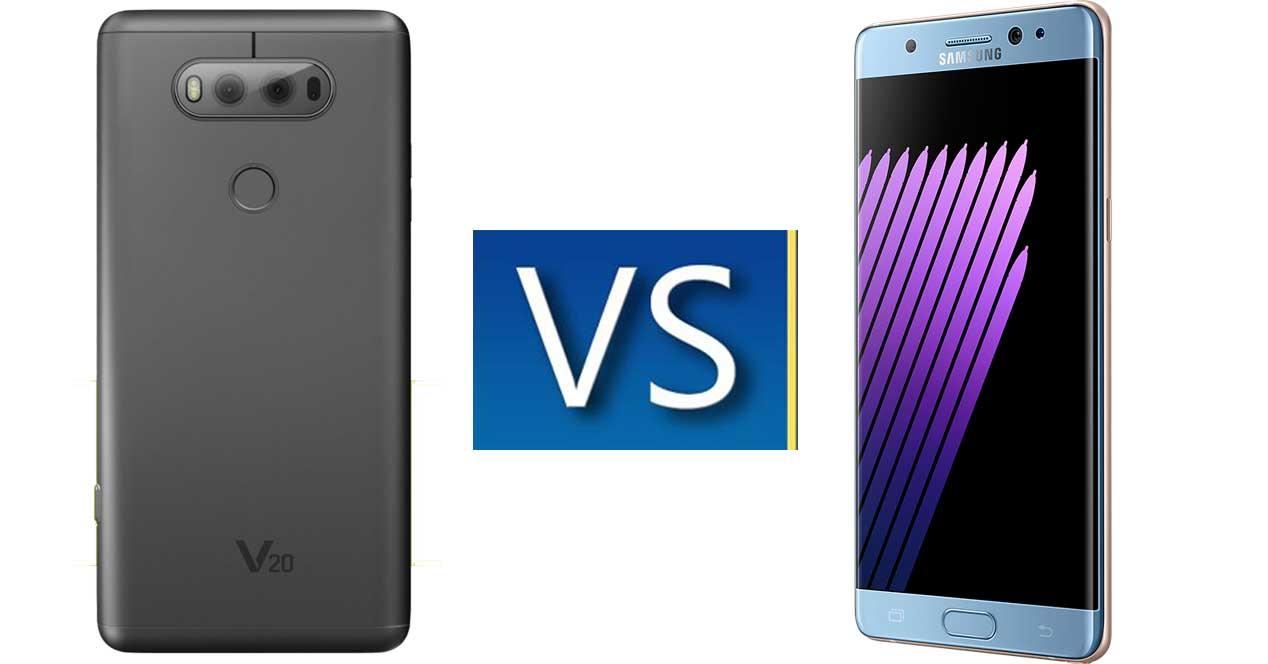 LG V20 vs Note 7