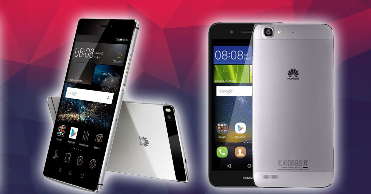 Huawei P8 y P8 Lite smart plateados
