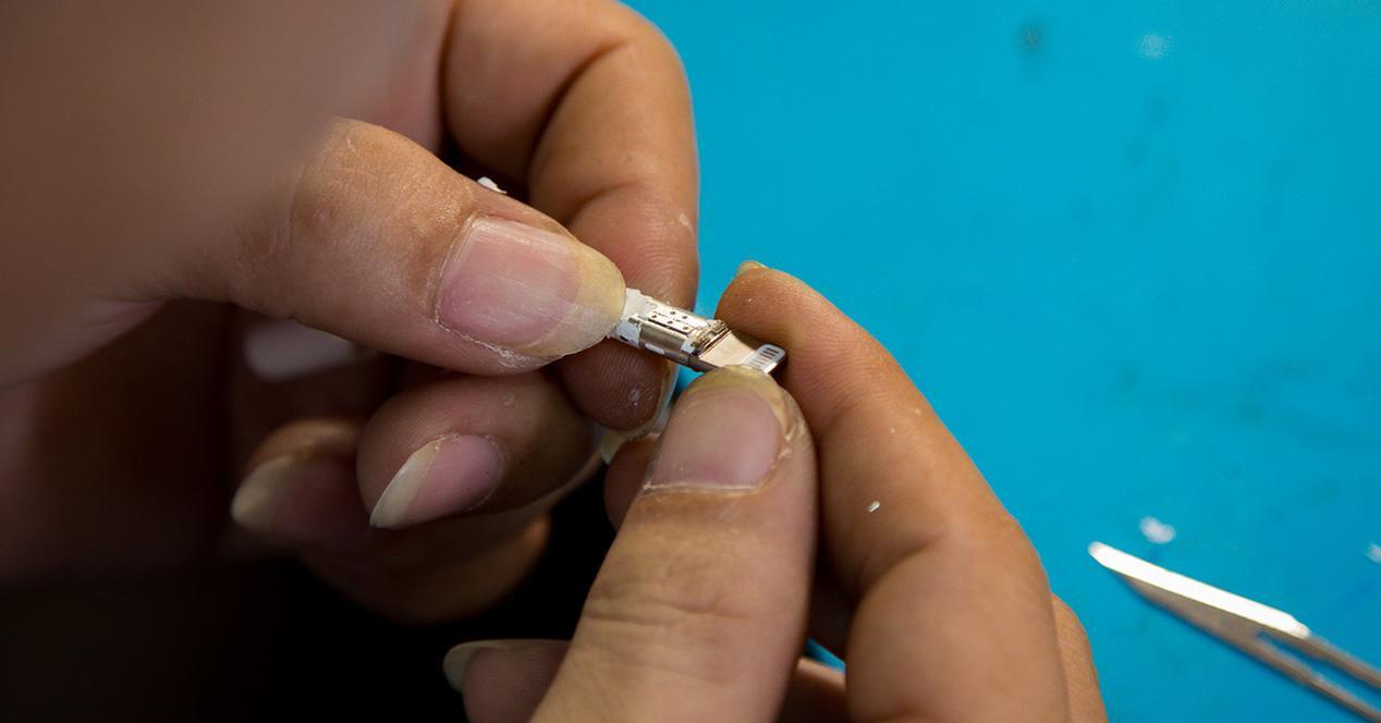 Cable Lightning del iPhone 7 para los auriculares