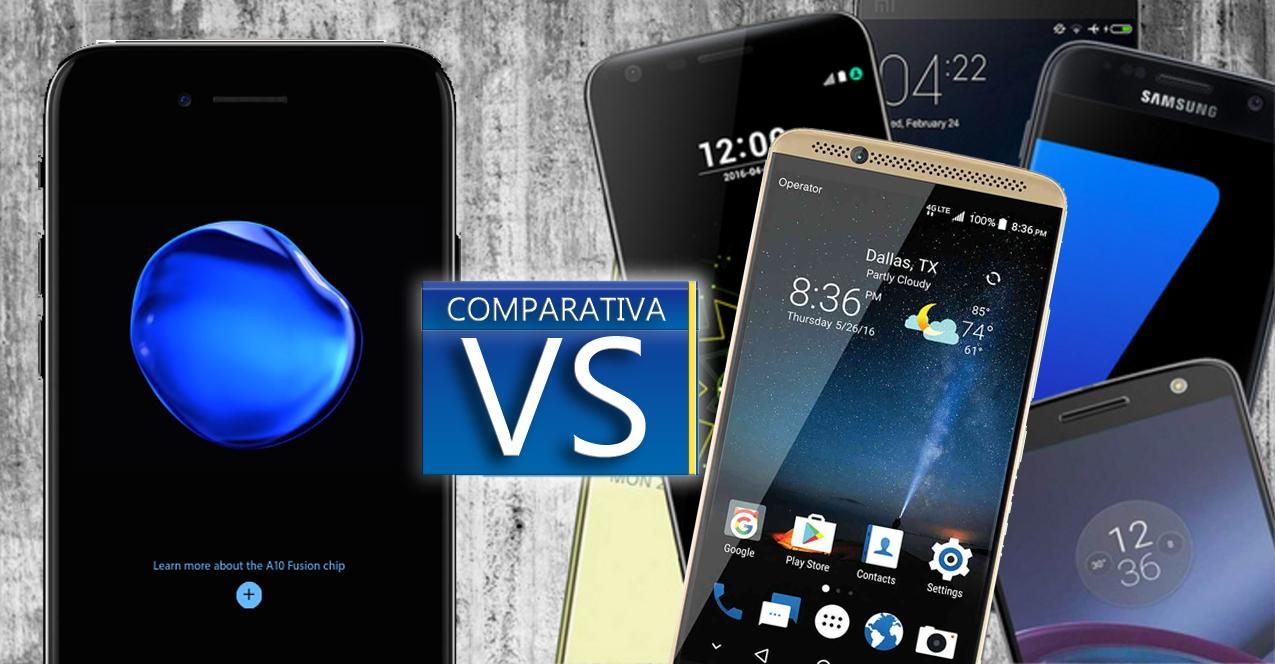iPhone 7 Plus vs gama alta 2016