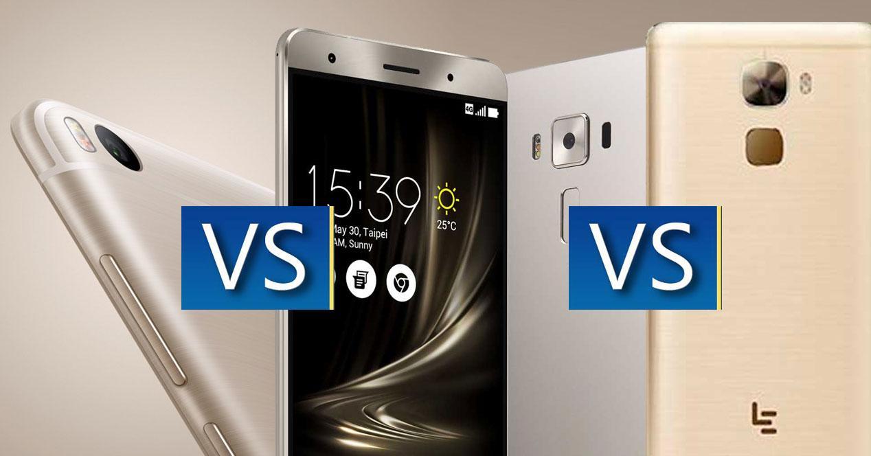 comparativa móviles chinos con snapdragon 821