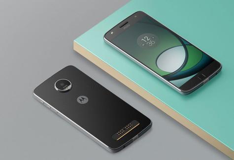 Motorola Moto Z Play negro vista delantera y trasera