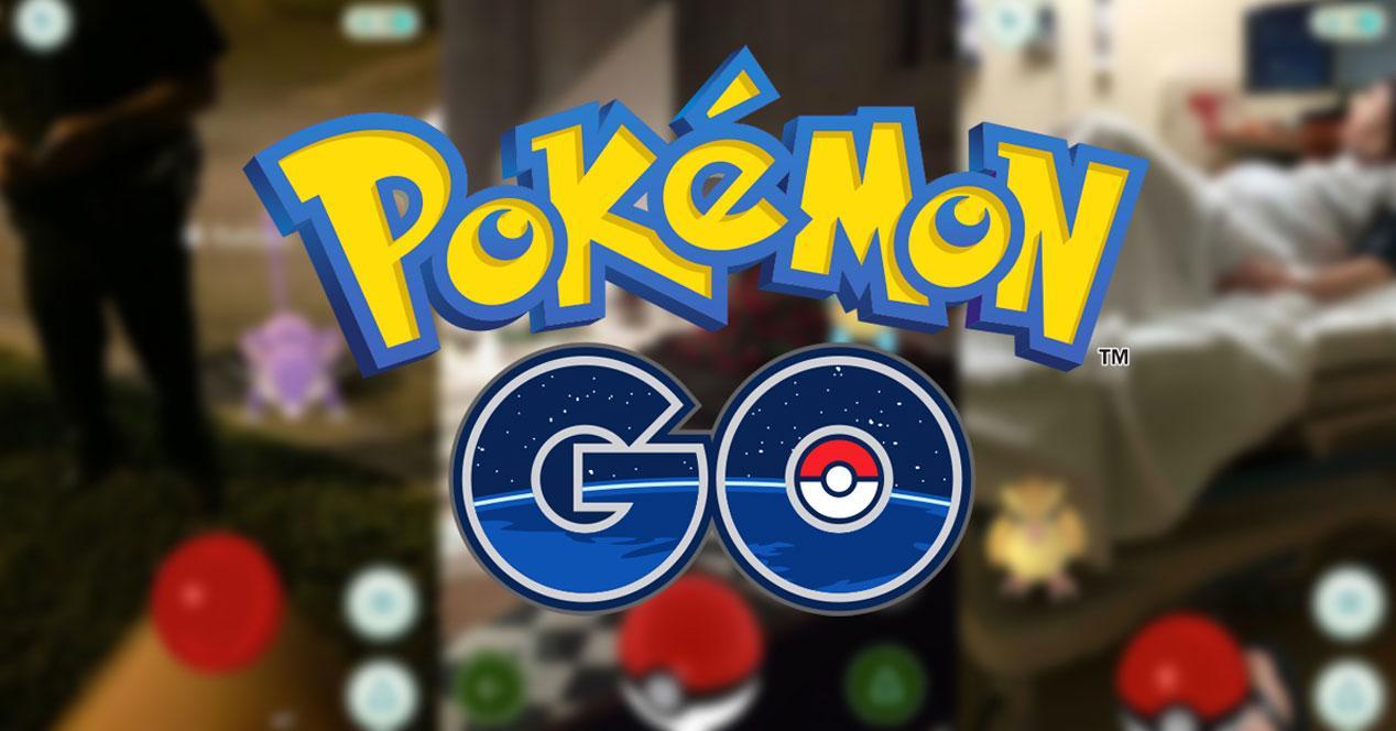 logo de pokemon go con fondo borroso