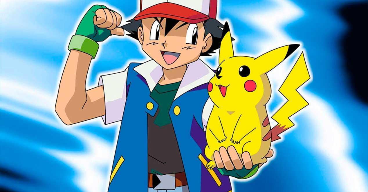 Pikachu con su entrenador