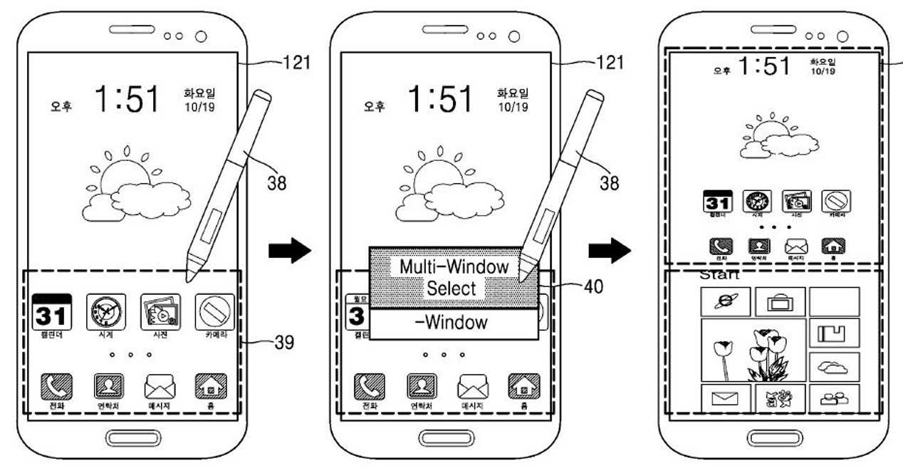 Samsung Galaxy con Android y Windows