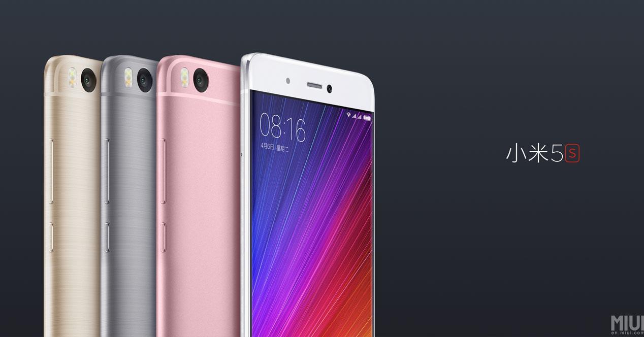 Xiaomi Mi5s colores a mitad de cuerpo