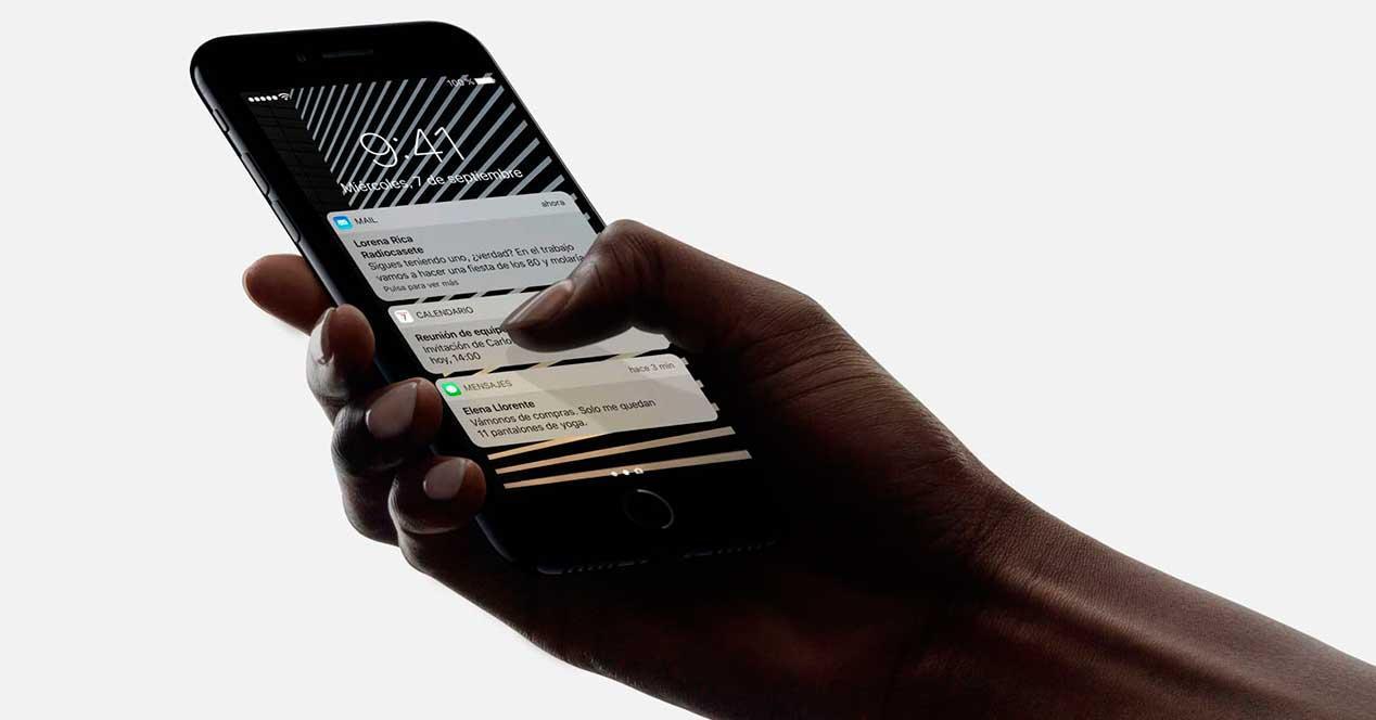 3D Touch en iPhone 7