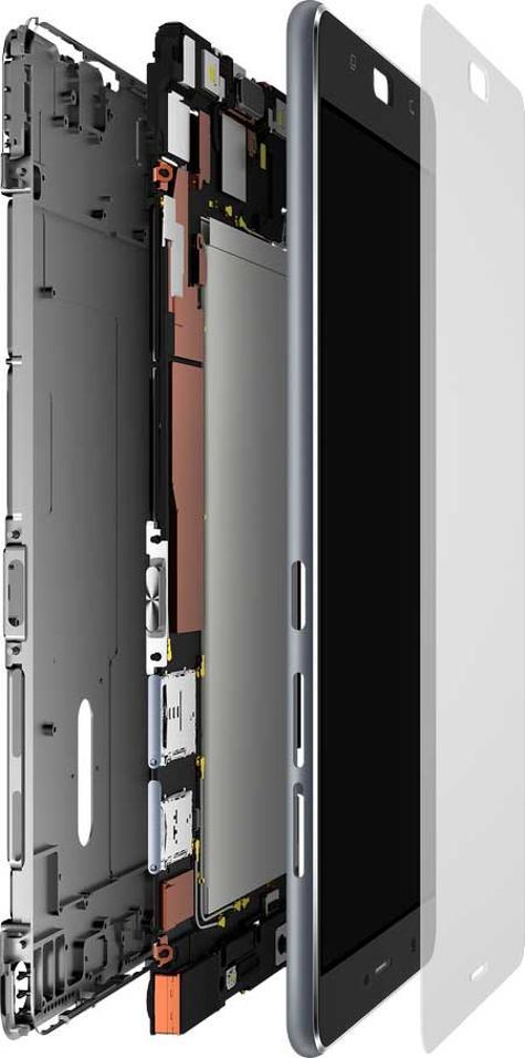ASUS Zenfone 3 Ultra detalle de fabricación